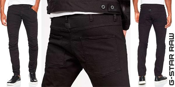 Pantalones vaquerosG-Star 5620 3D negro slim para hombre en oferta