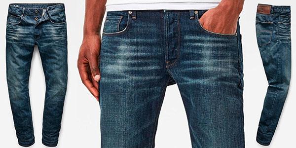 Chollo Pantalones vaqueros G-Star Raw de corte recto para hombre