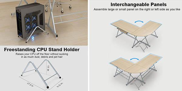 escritorio con gran superficie adaptable a una esquina en oferta