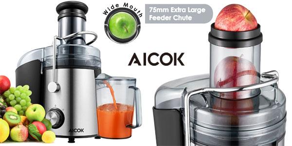 Licuadora para fruta, verdura y zumos Aicok GS-332 800W de gran boca barata en Amazon