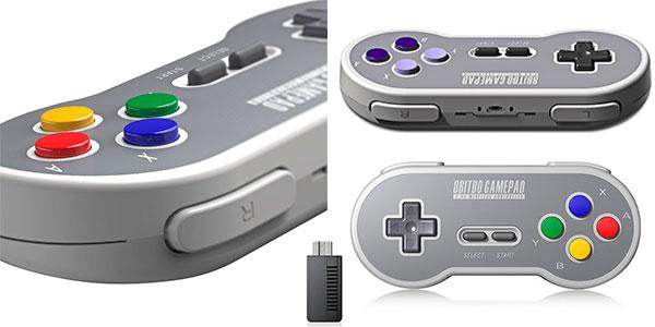 Mando inalámbrico 8bitDo para Super Nintendo Mini y PC barato