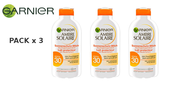 Pack x3 Garnier protector solar factor Spf 30 de 200ml barato en Amazon