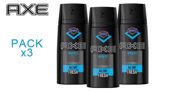 Pack de 3 Botes AXE Marine x 150ml Desodorante Bodyspray para hombre barato en Amazon