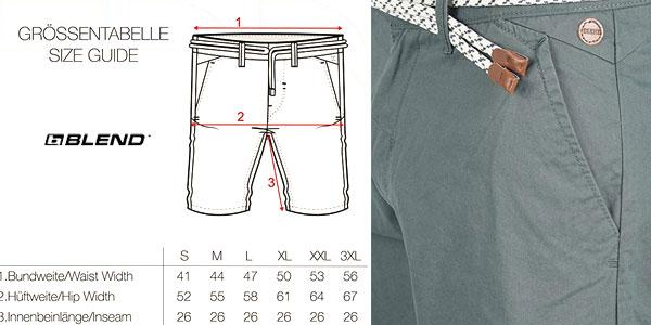 Pantalón corto chino Blend Ragna para hombre en muchos colores chollazo en Amazon