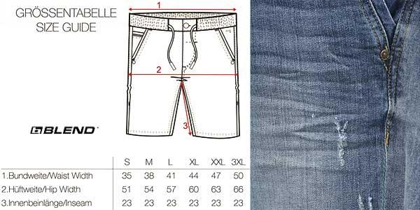 Pantalón vaquero corto Blend Bartels para hombre en varios tonos chollazo en Amazon