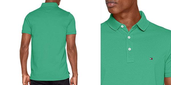 Polo ajustado Tommy Hilfiger Slim en color verde barato en Amazon