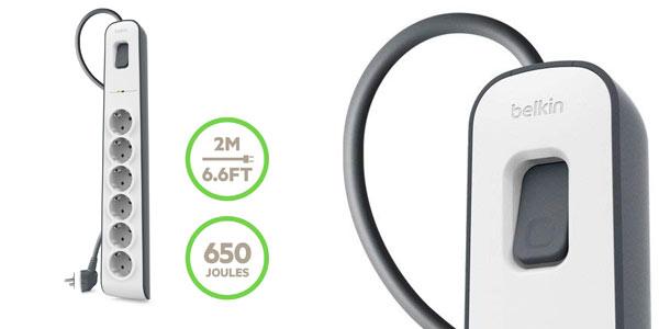 Regleta Belkin de 6 tomas con interruptor y protección barata en Amazon
