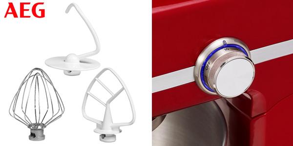 Robot de cocina AEG KM4000 de 1000 W en color rojo chollazo en Amazon