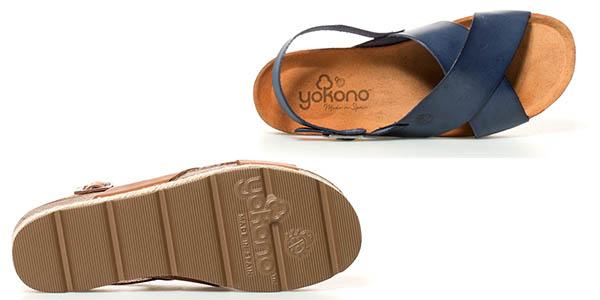 sandalias de piel de verano para mujer Yokono Java oferta