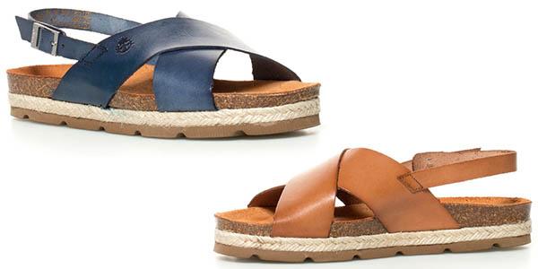 sandalias de tiras de piel Yokono Java chollo
