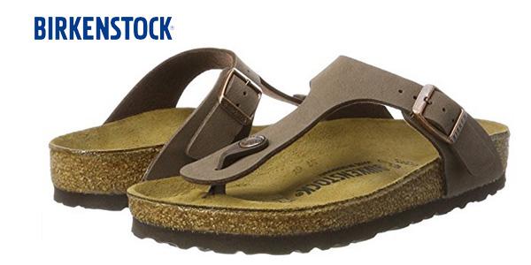 Sandalias Birkenstock Gizeh BK 043751 en color marrón mocca baratas en Amazon