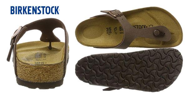 Sandalias Birkenstock Gizeh BK 043751 en color marrón mocca chollo en Amazon