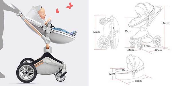 silla de paseo para bebés convertible en varias posiciones cómoda oferta