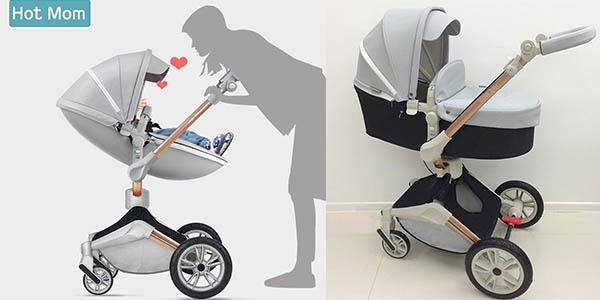sillita de paseo para bebés tipo Stokke con moisés independiente chollo