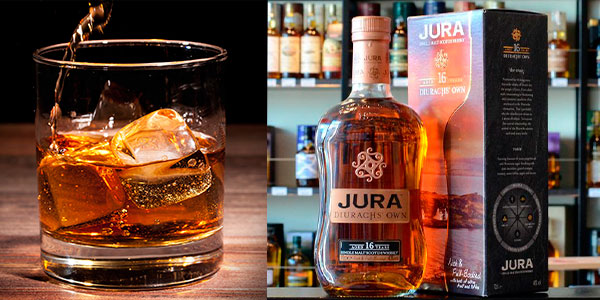 Botella de whisky Jura Diurachs' Own de 16 años (700 ml) barato
