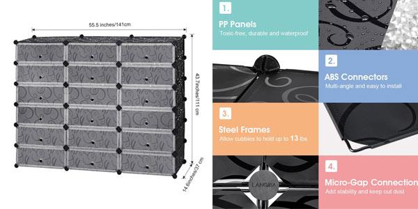 mueble modular Langria de cubos de plástico al mejor precio en Amazon