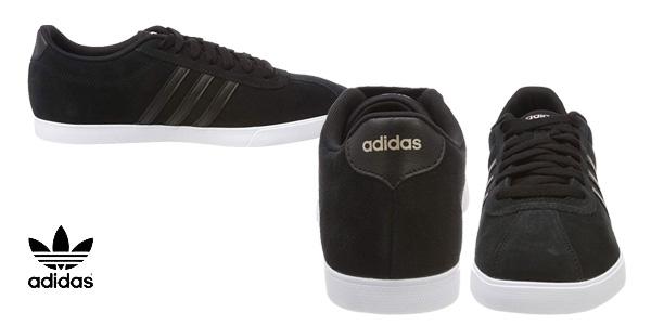 Zapatillas casual Adidas Courtset en color negro para mujer chollazo en Amazon