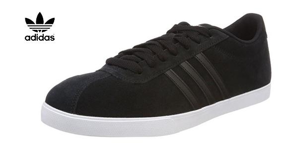 Zapatillas casual Adidas Courtset en color negro para mujer baratas en Amazon