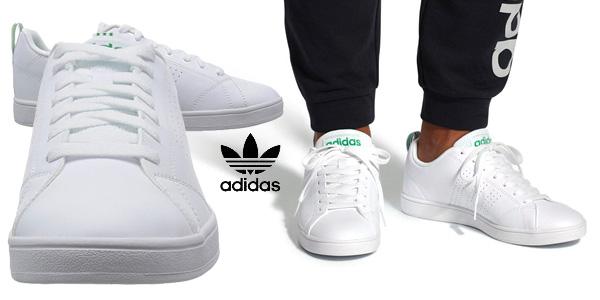 Zapatillas Adidas Vs Advantage Cl en color blanco para hombre chollo en Amazon