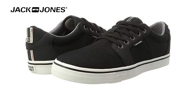 Zapatillas deportivas Jack & Jones Jfwbanda Canvas Mix Anthracite en gris antracita baratas en Amazon