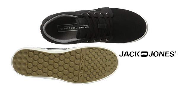 Zapatillas deportivas Jack & Jones Jfwbanda Canvas Mix Anthracite en gris antracita chollo en Amazon