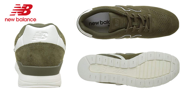 Zapatillas deportivas New Balance 996 Leather en color khaki para hombre chollo en Amazon