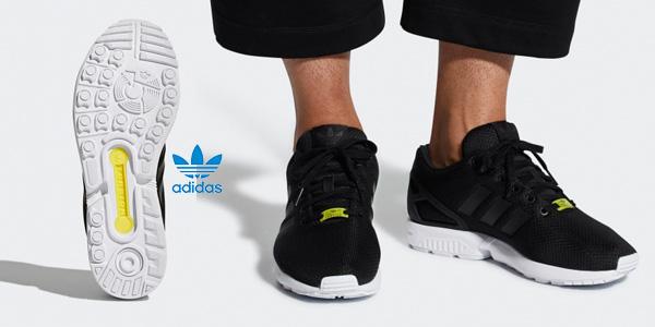 Zapatillas running unisex Adidas Zx Flux en color negro chollo en Amazon