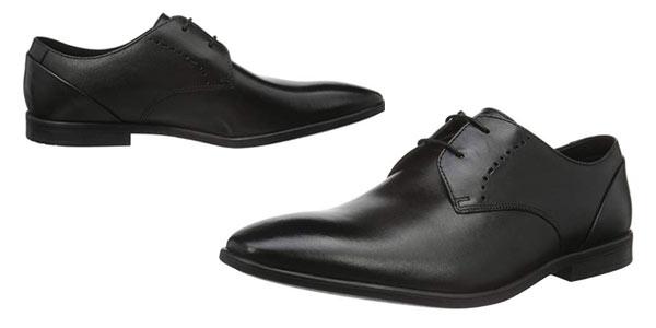 Zapatos derby Clarks Bampton en color negro a buen precio