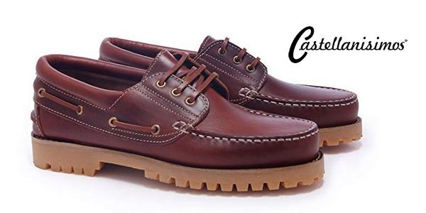 Zapatos náuticos Castellanísimos para hombre color marrón chollazo en Amazon