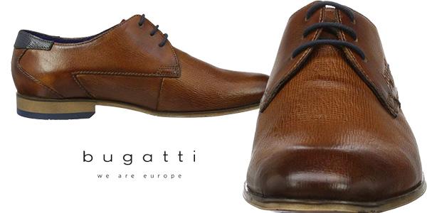 Zapatos de vestir Bugatti 312101082100 en color marrón cognac para hombre chollazo en Amazon