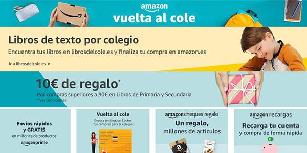 Amazon España vuelta al cole agosto 2018