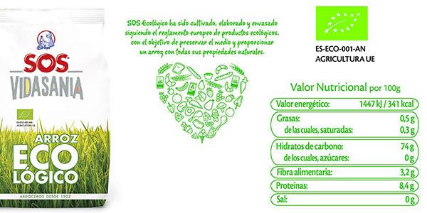 arroz SOS cultivo ecológico pack de gran formato chollo