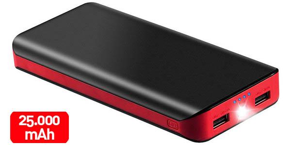 Batería Externa de 25.000 mAh con 2 puertos USB