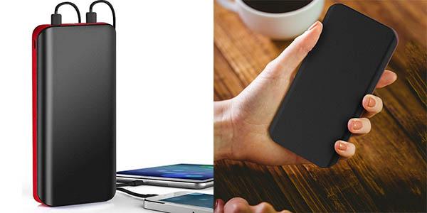 Powerbank de 25.000 mAh con linterna y 2 USB