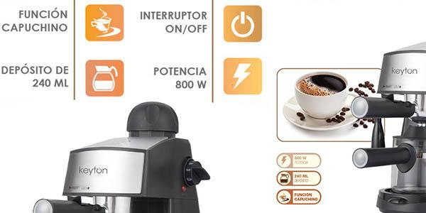 cafetera eléctrica de 2-4 tazas con calentador de leche y genial relación calidad-precio