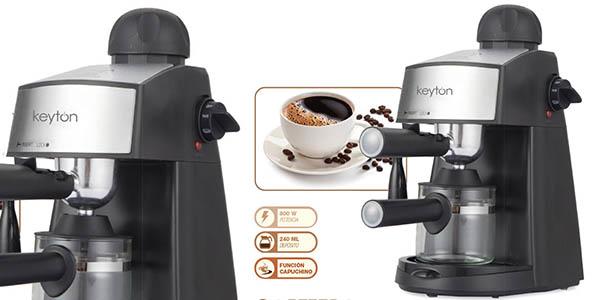 cafetera expreso con función capuccino Keyton barata