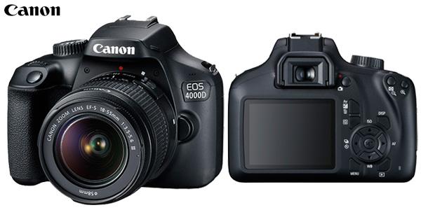 Kit Cámara Canon EOS 4000D + objetivo EF-S 18-55mm III barato en Amazon