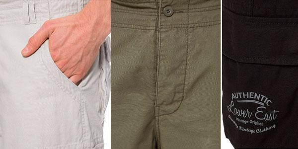 Chollo Pantalones largos Lower East cargo vintage en varios colores para hombre