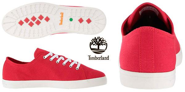 Chollo Zapatillas de lona Timberland Newport Bay de tipo Oxford en color rojo para hombre