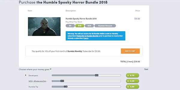 Comprar Humble Spooky Horror Bundle 2018