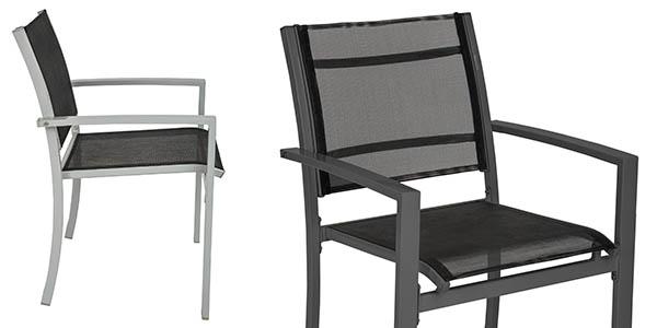 conjunto de sillas de exterior TecTake en oferta