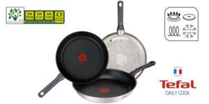 Set de 3 sartenes Tefal Daily Cook de acero inoxidable de 20, 24 y 26 cm chollazo en Amazon