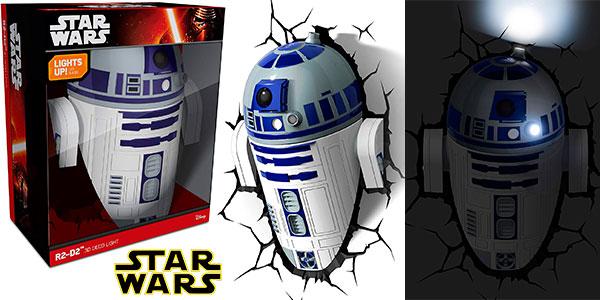 Lámpara LED 3D de R2-D3 de Star Wars al mejor precio