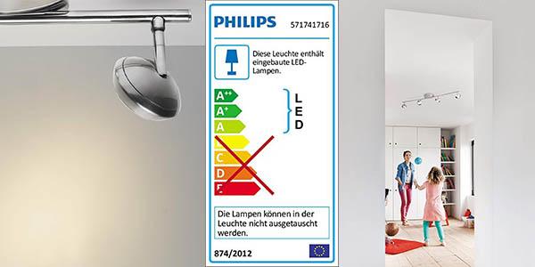 lámpara LED focos orientables Philips My Living Sepia oferta