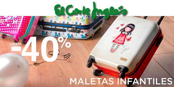 maletas de cabina, diseños infantiles y trolleys rebajados El Corte Inglés