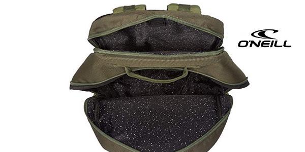 Mochila O'Neill Bm Boarder Plus Backpack en color verde bonze de 20L chollazo en Amazon
