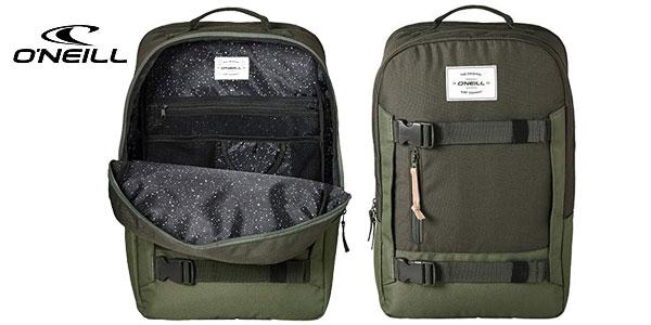 Mochila O'Neill Bm Boarder Plus Backpack en color verde bonze de 20L barata en Amazon