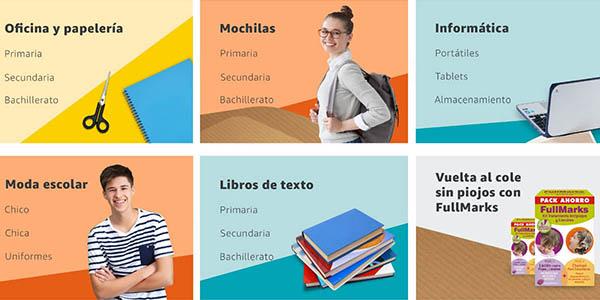 ofertas y regalos en Amazon España Vuelta al cole