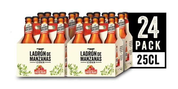4 Packs de 6 Botellas x 250 ml Ladrón de Manzanas Cider Frutos Rojos barato en Amazon
