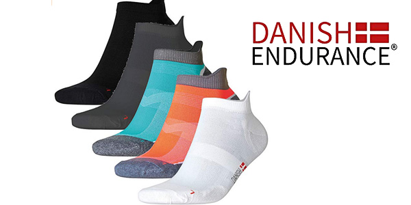 Calcetines de deporte Low Cut Pro Danish Endurance pack de 3 pares baratos en Amazon